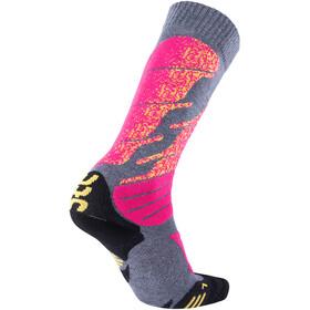UYN All Mountain Ski Socken Damen medium grey melange/pink